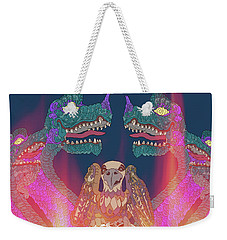 Weekender Tote Bag featuring the digital art Dragon Con Parade by Megan Dirsa-DuBois