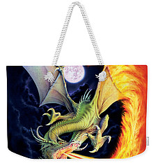 Dragon Fire Weekender Tote Bag by The Dragon Chronicles