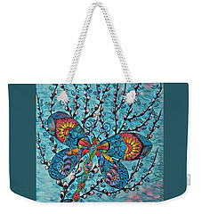 Dragon Fly And Pussy Willow Weekender Tote Bag by Megan Walsh