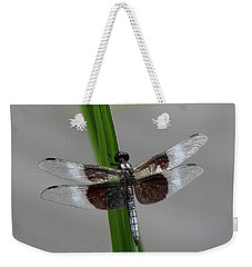 Weekender Tote Bag featuring the photograph Dragon Fly by Jerry Battle