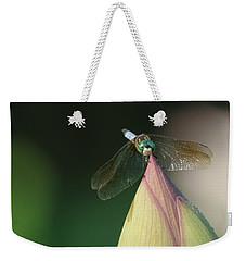 Dragon Fly Lotus Weekender Tote Bag