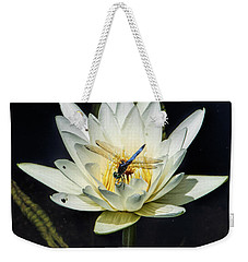 Dragon Fly On Lily Weekender Tote Bag