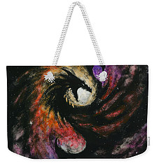 Weekender Tote Bag featuring the painting Dragon Galaxy by Stanley Morrison