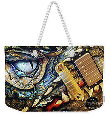 Weekender Tote Bag featuring the photograph Dragon Guitar Prs by Martin Konopacki