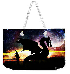 Dragon Silhouette Weekender Tote Bag