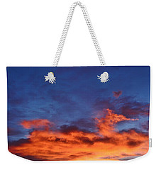 Weekender Tote Bag featuring the photograph Dragon Sunrise by Diane Alexander