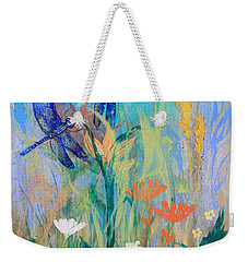 Dragonflies In Wild Garden Weekender Tote Bag