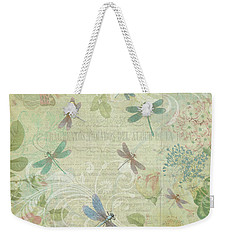 Dragonfly Dream Weekender Tote Bag by Peggy Collins