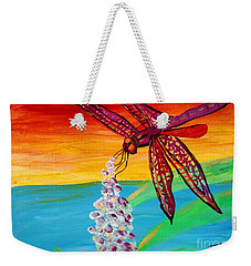 Dragonfly Ecstatic Weekender Tote Bag
