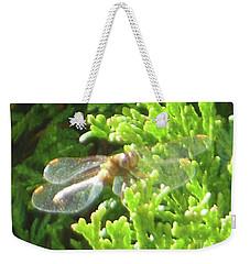 Dragonfly Evergreen Weekender Tote Bag