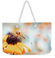 Dragonfly In The Garden Weekender Tote Bag