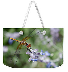 Dragonfly In The Lavender Garden Weekender Tote Bag