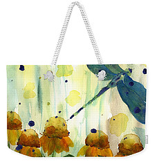 Dragonfly In The Wildflowers Weekender Tote Bag