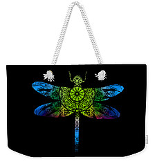 Dragonfly Kaleidoscope Weekender Tote Bag