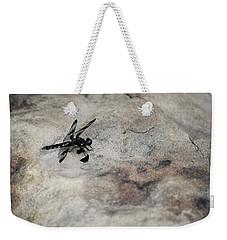 Dragonfly Landed On The Rock Weekender Tote Bag