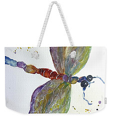 Weekender Tote Bag featuring the painting Dragonfly by Lucia Grilletto