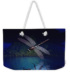 Dragonfly Night Reflections Weekender Tote Bag
