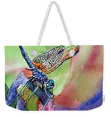 Dragonfly Of Many Colors Weekender Tote Bag