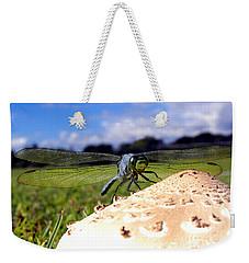 Dragonfly On A Mushroom Weekender Tote Bag