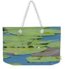 Dragonfly On Lily Pad Weekender Tote Bag
