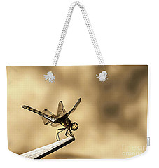 Dragonfly Resting On The Clothesline Weekender Tote Bag