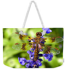 Weekender Tote Bag featuring the photograph Dragonfly by Sandi OReilly