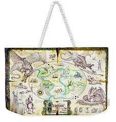 Dragons Of The World Weekender Tote Bag by The Dragon Chronicles - Garry Wa