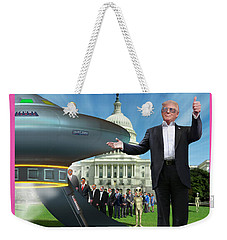 Weekender Tote Bag featuring the digital art Draining The Swamp With Help From Above by Mike McGlothlen
