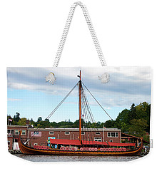 Weekender Tote Bag featuring the photograph Draken Harald Harfagre by Jeff Severson