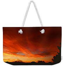 Drama At Sunrise Weekender Tote Bag