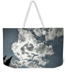 Weekender Tote Bag featuring the photograph Drama In The Sky by Karen Stahlros