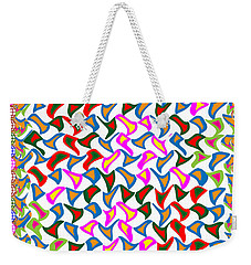 Dramatic Artistic Wind Blows The Paper Cuttings In A Dancing Mode Weekender Tote Bag