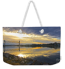 Dramatic Cape Cod Canal Sunrise Weekender Tote Bag by Amazing Jules
