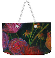 Dramatic Floral Still Life Painting Weekender Tote Bag
