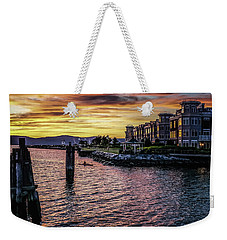 Dramatic Hudson River Sunset Weekender Tote Bag
