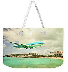 Dramatic Landing At St Maarten Weekender Tote Bag