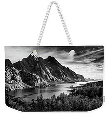 Dramatic Lofoten Weekender Tote Bag by Alex Conu