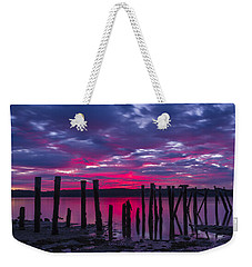 Dramatic Maine Sunrise Weekender Tote Bag