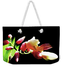 Dramatic Oriental Orchid Weekender Tote Bag by Tina M Wenger