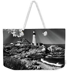 Dramatic Portland Head Lighthouse Me Weekender Tote Bag