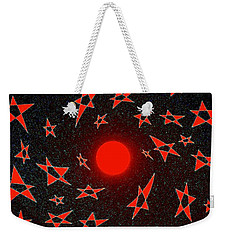Weekender Tote Bag featuring the mixed media Dramatic Radiation  by Will Borden