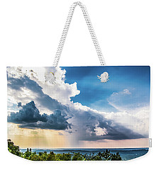 Weekender Tote Bag featuring the photograph Dramatic Sunrays Over The Valley by Shelby Young