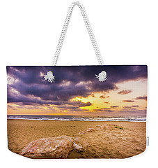Dramatic Sunrise, La Mata, Spain. Weekender Tote Bag