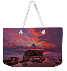 Dramatic Sunrise Over Coral Cove Beach In Jupiter Florida Weekender Tote Bag