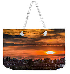 Dramatic Sunset Over Sofia Weekender Tote Bag