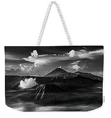 Weekender Tote Bag featuring the photograph Dramatic View Of Mount Bromo by Pradeep Raja Prints