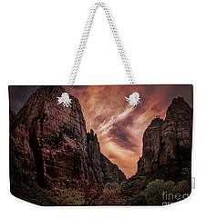 Dramatic Zion National Park Utah  Weekender Tote Bag