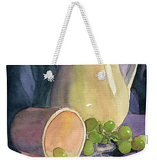 Drapes And Grapes Weekender Tote Bag