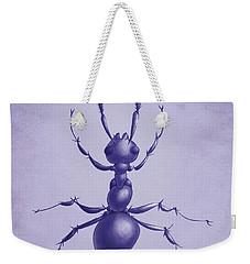 Drawn Purple Ant Weekender Tote Bag