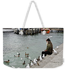 Dreadlocks Man Feeding Birds Weekender Tote Bag